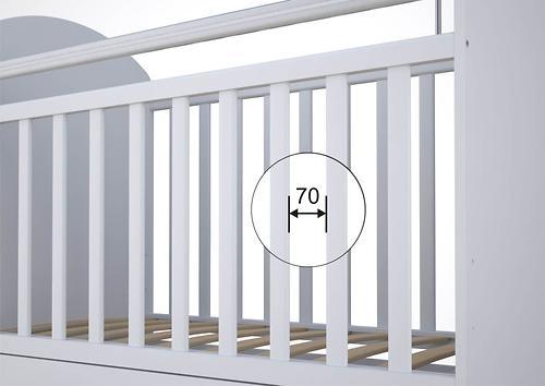 Кровать детская ФЕЯ 700 Белая (4)
