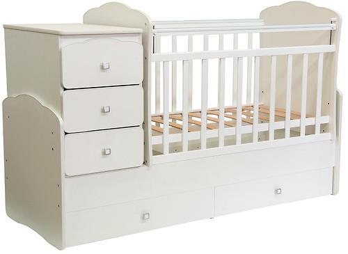 Кроватка детская Фея 2100 Слоновая кость (4)