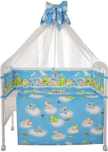 Комплект в кроватку Фея Мишки, 7 предметов, Голубой (7)