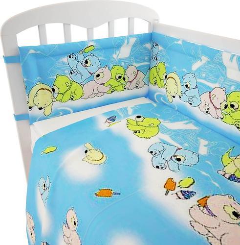 Комплект в кроватку Фея Мишки, 7 предметов, Голубой (8)