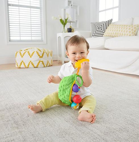 Плюшевая игрушка-погремушка Fisher-Price Горошек (7)