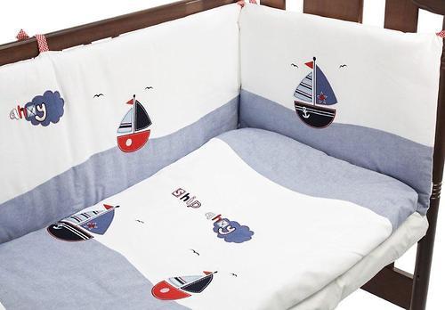 Комплект постельного белья FunnaBaby Marine Blue 5 пр. с балдахином и карманом-накопителем (6)
