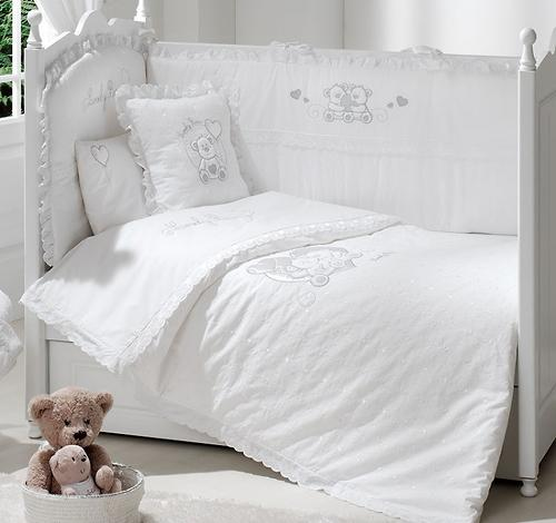 Постельное белье FunnaBaby Lovely Bear White 5 предметов 120х60 см (3)