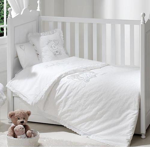 Постельное белье FunnaBaby Lovely Bear White 3 предмета 120х60 см (3)
