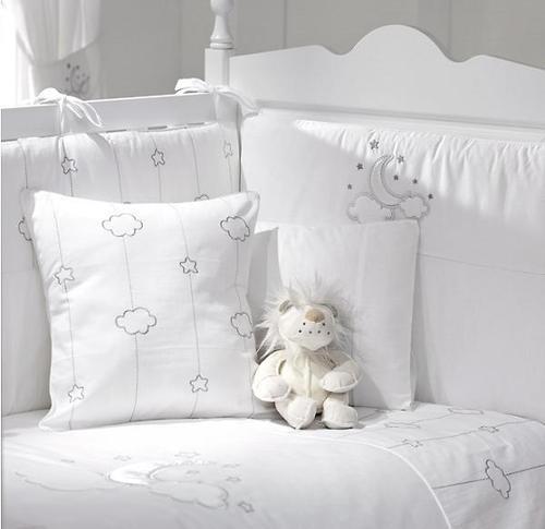 Комплект постельного белья FunnaBaby Luna Chic White 5 пр. с балдахином и карманом накопителем (4)
