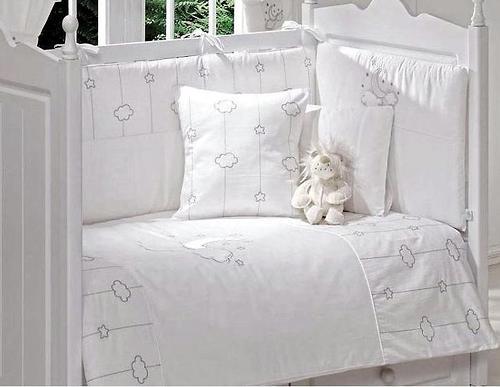 Комплект постельного белья FunnaBaby Luna Chic White 5 пр. с балдахином и карманом накопителем (5)