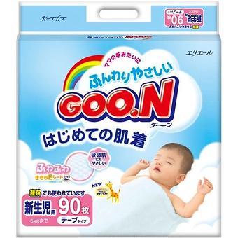 Подгузники Goon 0-5 кг NB 90 шт - Minim