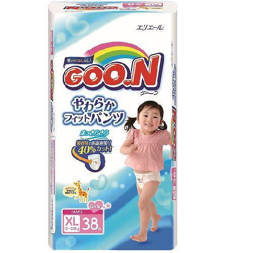 Подгузники-трусики девочкам Goon 12-20 кг XL 38шт (3)