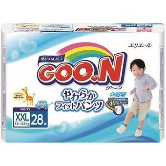 Подгузники-трусики Goon для мальчиков BigBig XXL 13-25кг 28шт - Minim