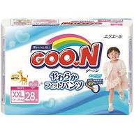 Подгузники-трусики Goon для девочек BigBig XXL 13-25кг 28шт