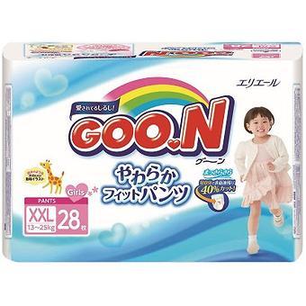 Подгузники-трусики Goon для девочек BigBig XXL 13-25кг 28шт - Minim