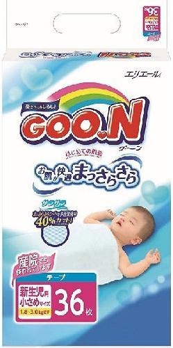 Подгузники Goon XXS 0-3 кг 36 шт (3)