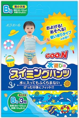 Трусики Goon плавательные Big 12-17 кг 3шт для мальчиков (3)