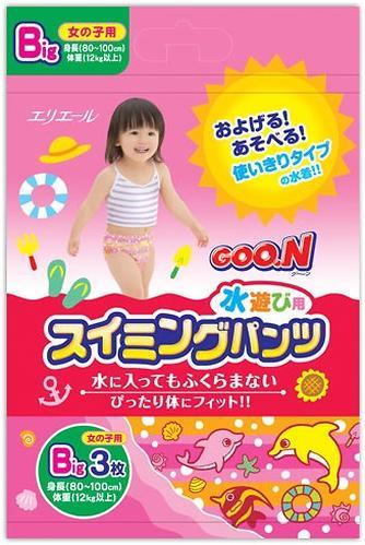 Трусики Goon плавательные Big 12-17 кг 3шт для девочек (3)