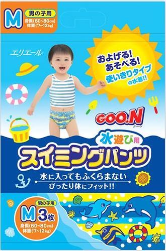 Трусики Goon плавательные M 7-12 кг 3шт для мальчиков (3)