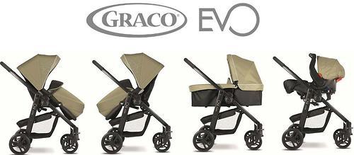 Коляска 3 в 1 Graco EVO Trio Sand (15)