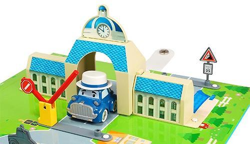 Набор Robocar Город - Мэрия с металлической машинкой Масти (8)