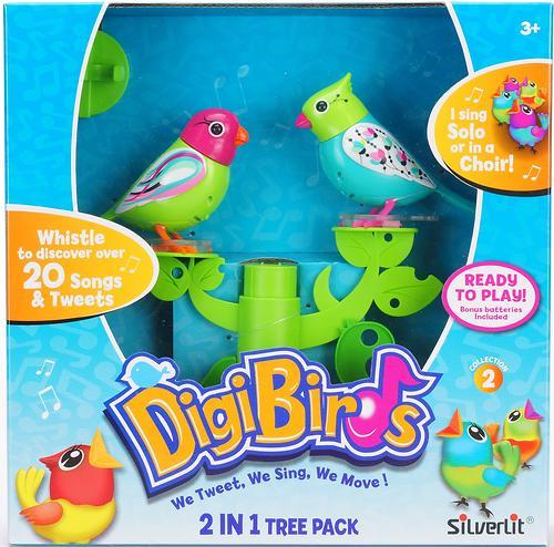 Две птички с деревом DigiBirds в ассортименте (16)