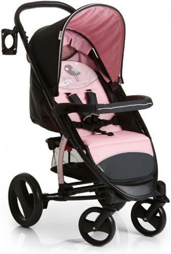 Коляска прогулочная Hauck Malibu XL Черно-розовая (6)