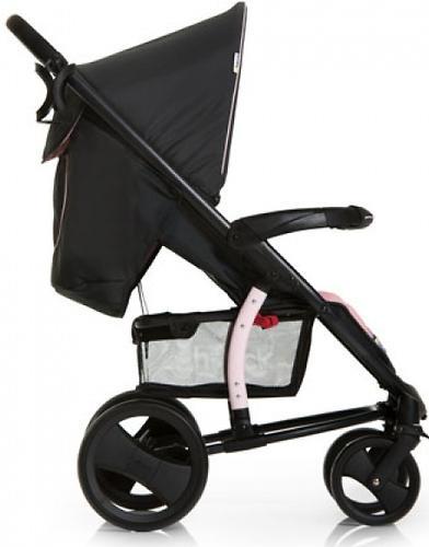 Коляска прогулочная Hauck Malibu XL Черно-розовая (8)