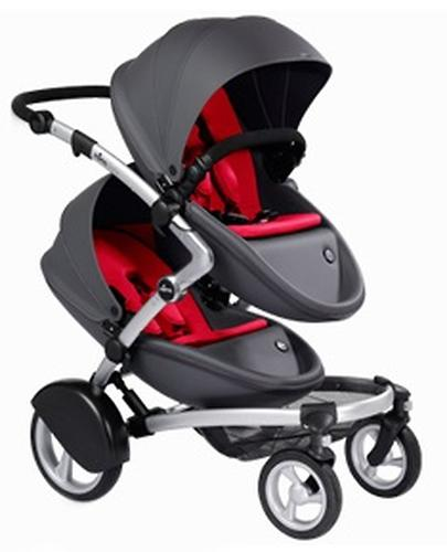 Коляска для двойни/погодок Mima KOBI TWIN Cool Grey (5)
