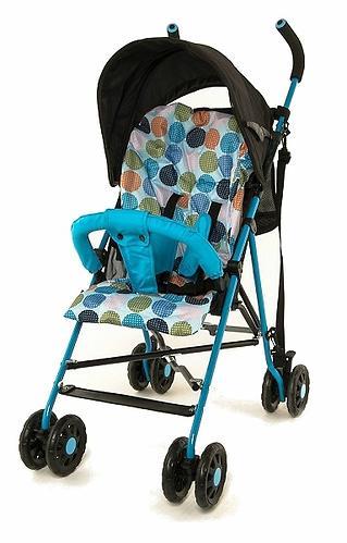 Коляска-трость Mobility One A0770 Черно-голубая (8)