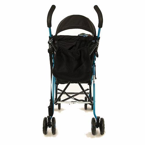 Коляска-трость Mobility One A0770 Черно-голубая (10)