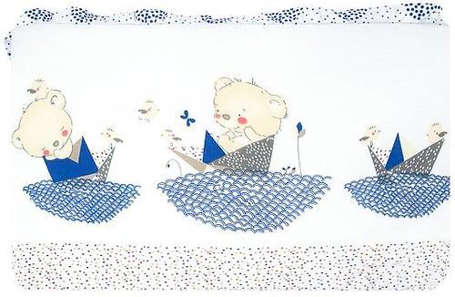 Бортик Leader Kids в кроватку Мишка в кораблике Cиний (3)