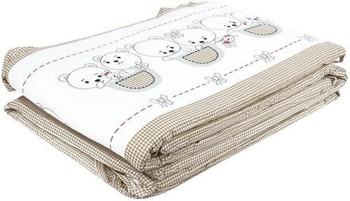 Бортик Leader Kids в кроватку Мишки в кармане Кофе (4)