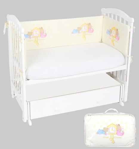 Бортик Leader Kids в кроватку Сказка на ночь Молочный (1)
