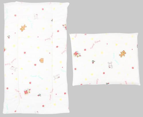 Комплект в коляску Leader Kids матрасик+подушка Зайкины игрушки Белый (1)