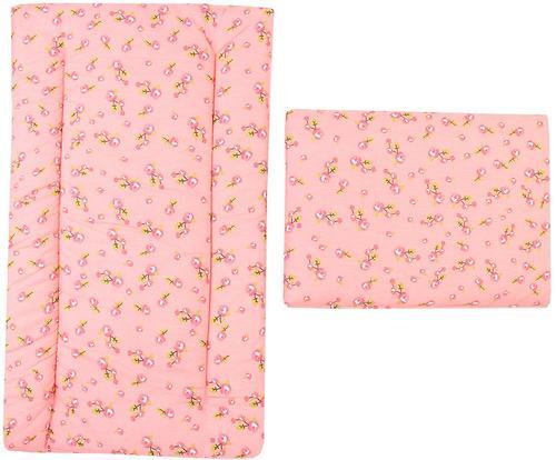 Комплект в коляску Leader Kids матрасик+подушка Розочка Розовый (1)