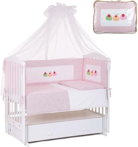 Комплект в кроватку Leader Kids Сладости 7 предметов красный (1)