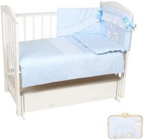 Комплект в кроватку Leader Kids Весёлые мишки 7 предметов голубой (1)