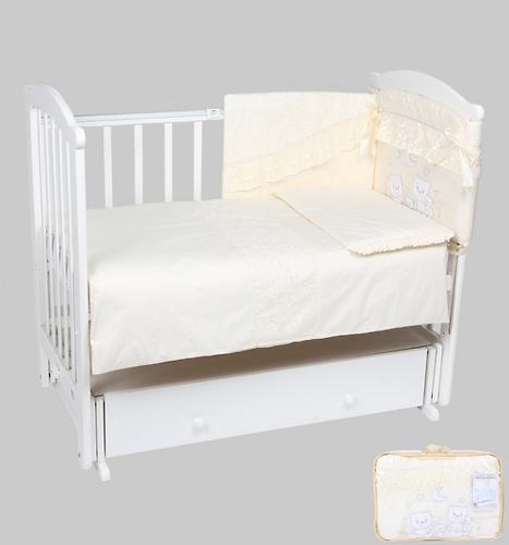 Комплект в кроватку Leader Kids Весёлые мишки 7 предметов молочный (1)