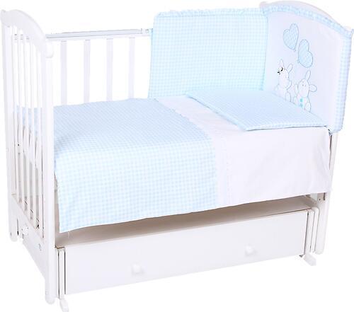 Комплект в кроватку Leader Kids Зайчата 7 предметов, голубой (3)