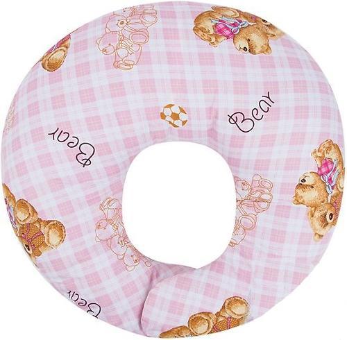Подушка Leader Kids для кормления Мишки на клетке Розовая (3)