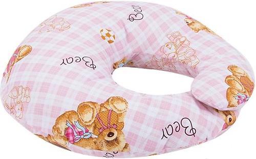 Подушка Leader Kids для кормления Мишки на клетке Розовая (4)