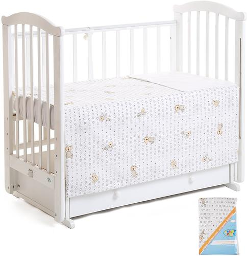 Комплект постельного белья в кроватку Leader Kids Среди звезд Бежевый (1)