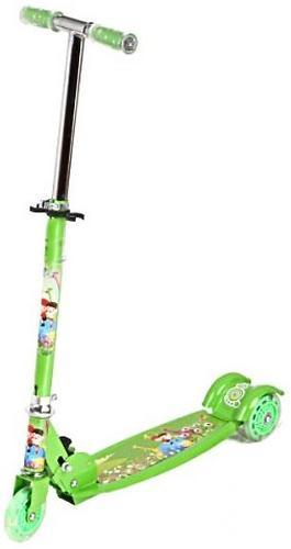 Самокат 3-х колесный Leader Kids Scooter jc-640 Green (1)