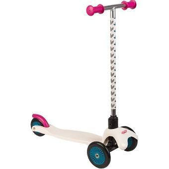 Самокат Leader kids 3-х колесный сдвоенные колеса белый - Minim