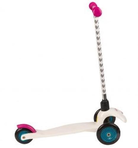 Самокат Leader kids 3-х колесный сдвоенные колеса белый (4)