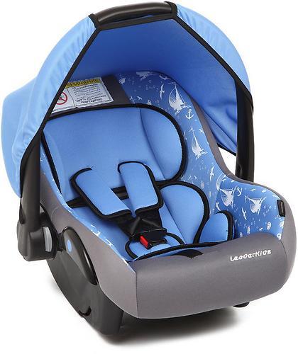 Автокресло-переноска Leader Kids Voyage серый+голубой принт (1)