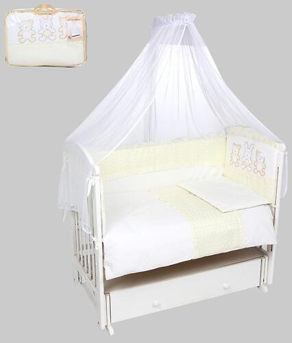 Комплект в кроватку Leader Kids Нежные друзья 7 предметов Молочный (1)