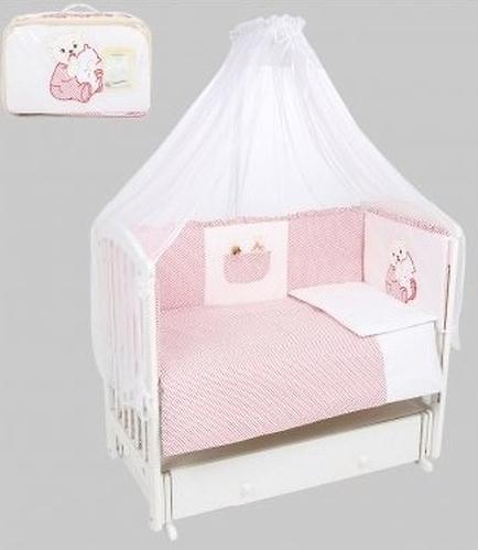 Комплект в кроватку Leader Kids Малыш мишка 7 предметов Красный (1)