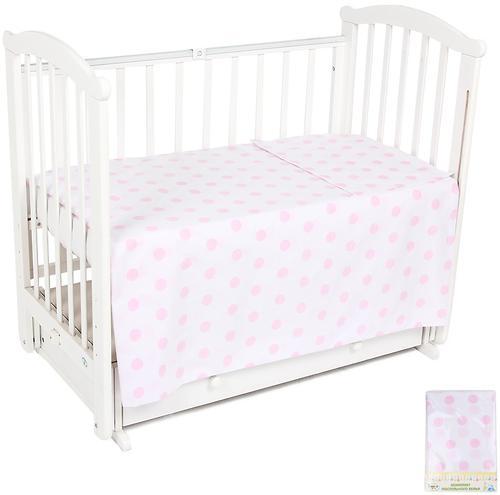 Комплект постельного белья в кроватку Leader Kids 3 предмета Шарики Розовый (1)