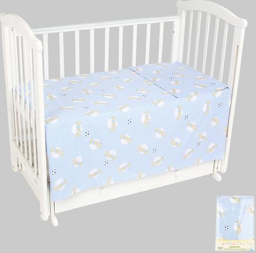 Комплект постельного белья в кроватку Leader Kids 3 предмета Овечки Синий (1)