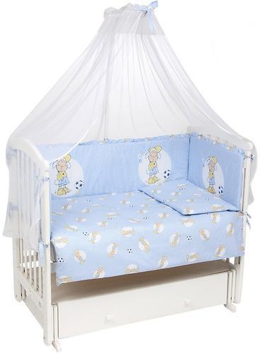 Комплект в кроватку Leader Kids 7 предметов Овечки Синий (3)