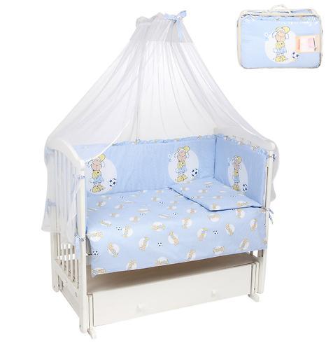 Комплект в кроватку Leader Kids 7 предметов Овечки Синий (4)