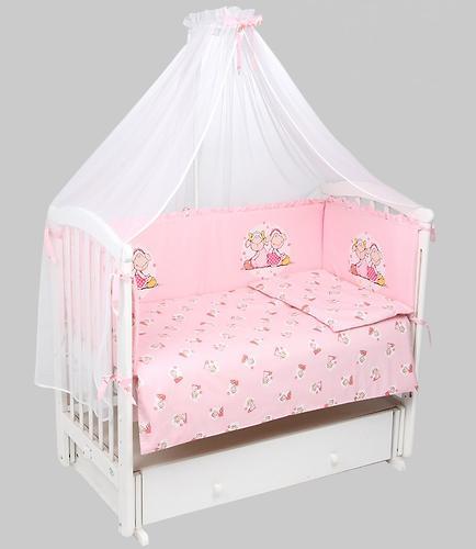 Комплект в кроватку Leader Kids 7 предметов Овечки Розовый (1)